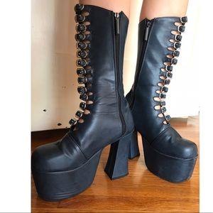 Shoes - SALE! Japanese vegan leather platform boots
